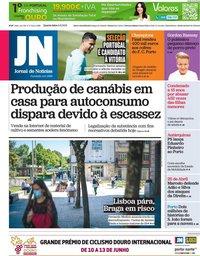 capa Jornal de Notícias de 9 junho 2021