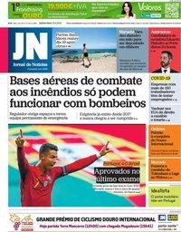 capa Jornal de Notícias de 10 junho 2021