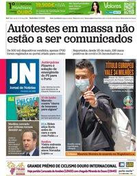 capa Jornal de Notícias de 11 junho 2021