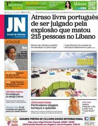 capa Jornal de Notícias de 12 junho 2021