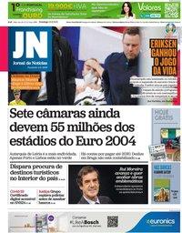 capa Jornal de Notícias de 13 junho 2021