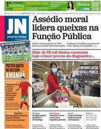 capa Jornal de Notícias de 14 junho 2021