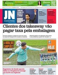 capa Jornal de Notícias de 15 junho 2021