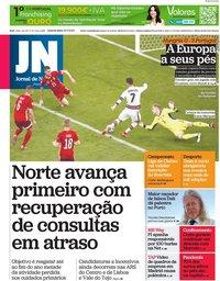 capa Jornal de Notícias de 16 junho 2021