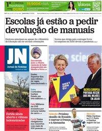 capa Jornal de Notícias de 17 junho 2021