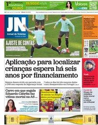 capa Jornal de Notícias de 19 junho 2021
