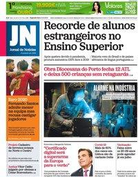 capa Jornal de Notícias de 21 junho 2021