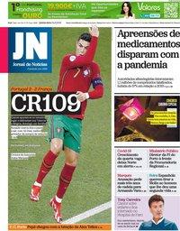 capa Jornal de Notícias de 24 junho 2021