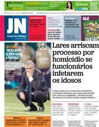 capa Jornal de Notícias de 25 junho 2021