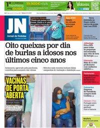 capa Jornal de Notícias de 26 junho 2021