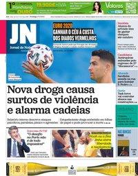 capa Jornal de Notícias de 27 junho 2021