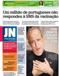 capa Jornal de Notícias de 30 junho 2021
