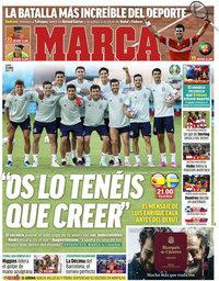 capa Jornal Marca de 14 junho 2021