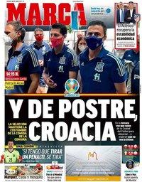 capa Jornal Marca de 26 junho 2021