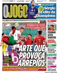 capa Jornal O Jogo de 1 junho 2021
