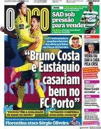 capa Jornal O Jogo de 2 junho 2021