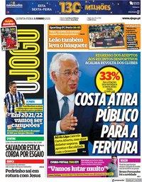 capa Jornal O Jogo de 3 junho 2021