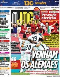 capa Jornal O Jogo de 4 junho 2021