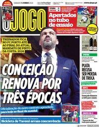capa Jornal O Jogo de 5 junho 2021
