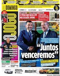 capa Jornal O Jogo de 6 junho 2021