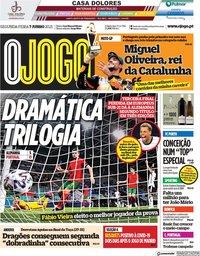 capa Jornal O Jogo de 7 junho 2021