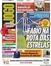 capa Jornal O Jogo de 8 junho 2021