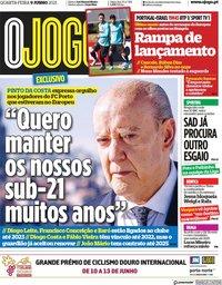 capa Jornal O Jogo de 9 junho 2021