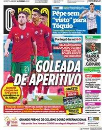 capa Jornal O Jogo de 10 junho 2021