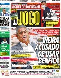 capa Jornal O Jogo de 11 junho 2021