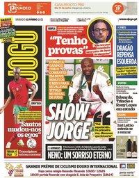 capa Jornal O Jogo de 12 junho 2021