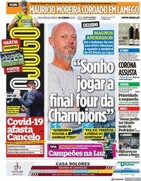 capa Jornal O Jogo de 14 junho 2021