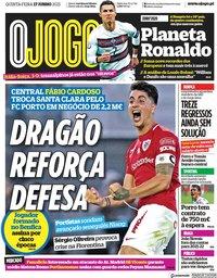 capa Jornal O Jogo de 17 junho 2021