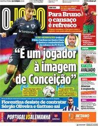 capa Jornal O Jogo de 18 junho 2021
