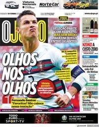 capa Jornal O Jogo de 19 junho 2021