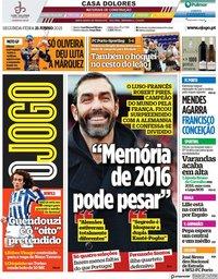 capa Jornal O Jogo de 21 junho 2021