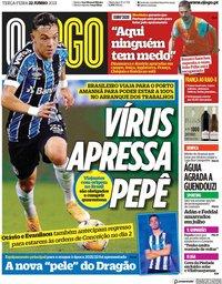 capa Jornal O Jogo de 22 junho 2021