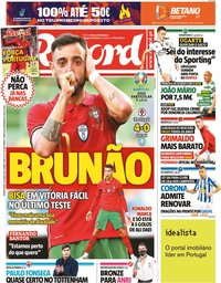 capa Jornal Record de 10 junho 2021