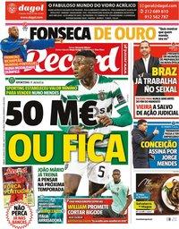 capa Jornal Record de 12 junho 2021