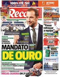 capa Jornal Record de 21 junho 2021