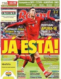 capa Jornal Record de 24 junho 2021