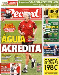 capa Jornal Record de 25 junho 2021