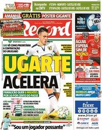 capa Jornal Record de 26 junho 2021