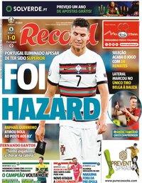 capa Jornal Record de 28 junho 2021