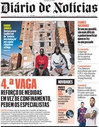 capa Diário de Notícias de 1 julho 2021