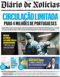 capa Diário de Notícias de 2 julho 2021