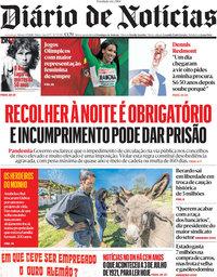 capa Diário de Notícias de 3 julho 2021