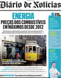 capa Diário de Notícias de 5 julho 2021