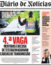 capa Diário de Notícias de 8 julho 2021