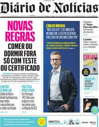 capa Diário de Notícias de 9 julho 2021