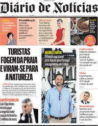capa Diário de Notícias de 11 julho 2021